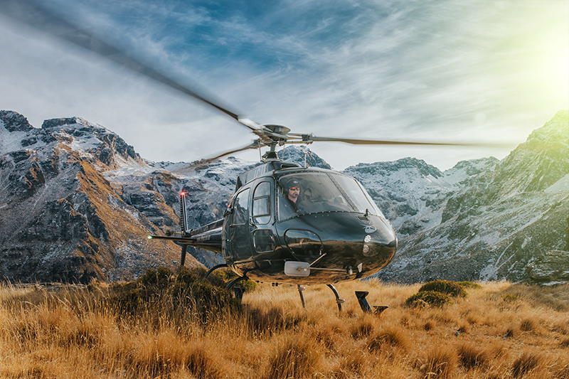 Heli location scouting Queenstown